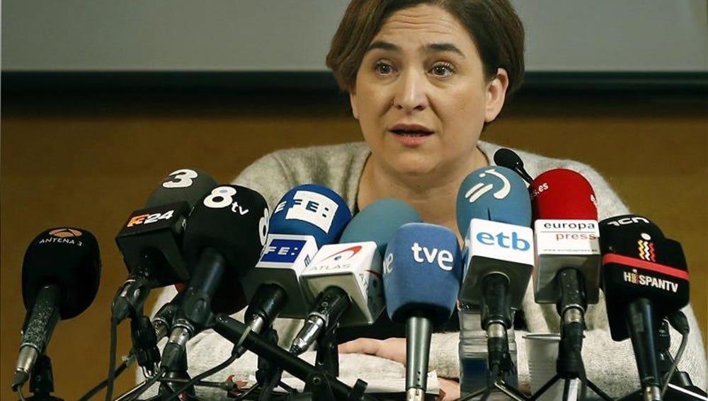 La líder de Barcelona en Comú y alcadesa de Barcelona, Ada Colau