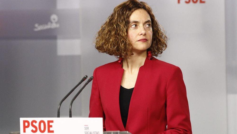 """Meritxell Batet, PSOE: """"Pedro Sánchez está fuerte internamente, se ha ganado un liderazgo social"""""""