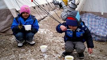 Niños refugiados