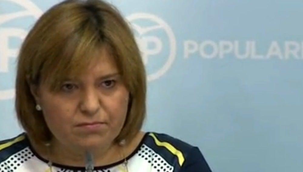 Isabel Bonig en rueda de prensa