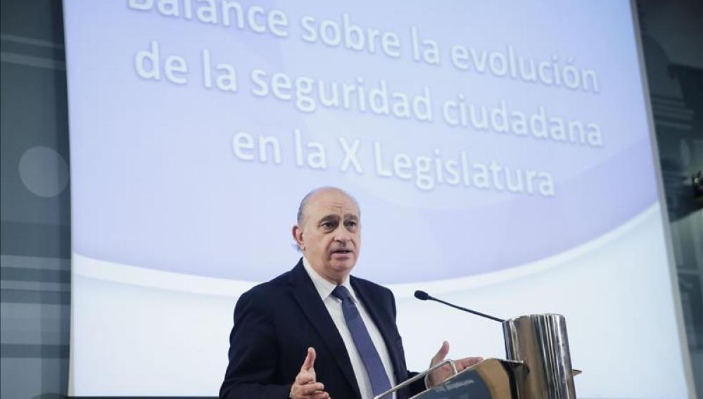 El ministro en funciones de Interior, Jorge Fernández Díaz