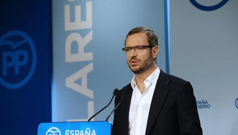 Javier Maroto durante una comparecencia en la sede del PP (Archivo)