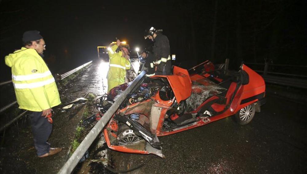 Accidente de tráfico ocurrido en Ponteareas