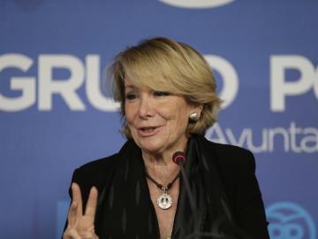 La portavoz del PP en el Ayuntamiento de Madrid, Esperanza Aguirre