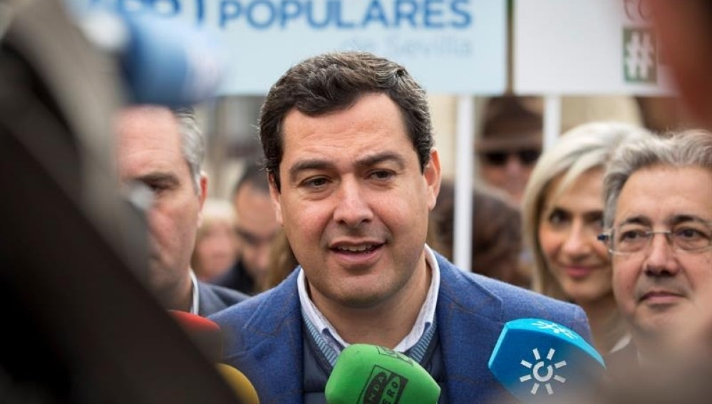 El presidente del Partido Popular (PP) andaluz, Juanma Moreno