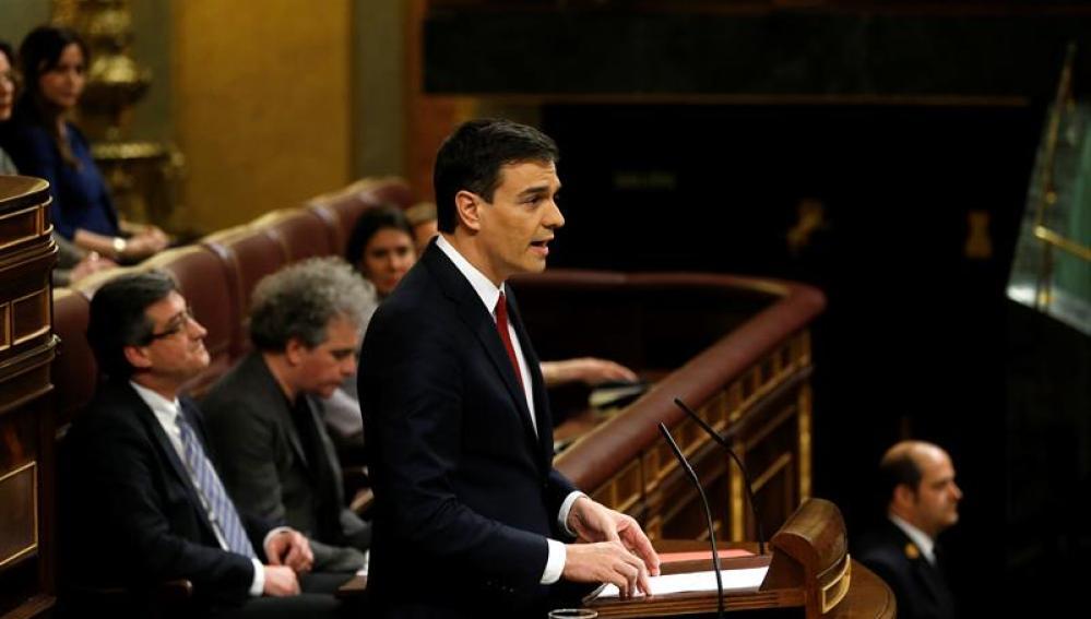 Pedro Sánchez, en la segunda votación de investidura
