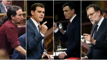 Iglesias, Rivera, Sánchez y Rajoy, en el Congreso