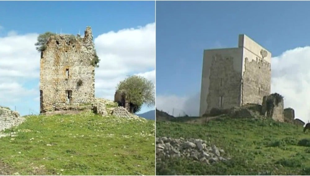 Antes y después del castillo de Matrera