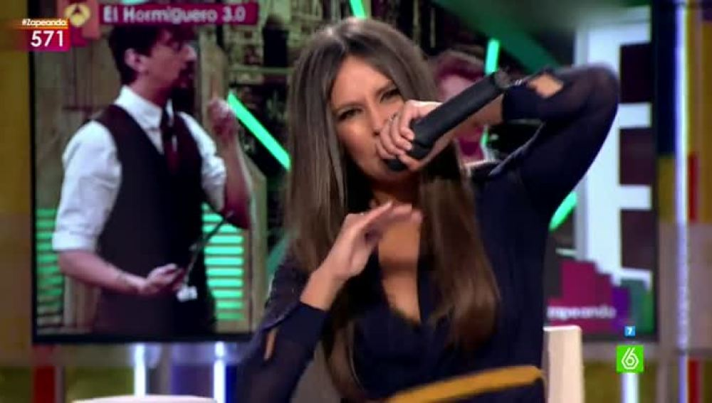 Cristina Pedroche interpreta un rap