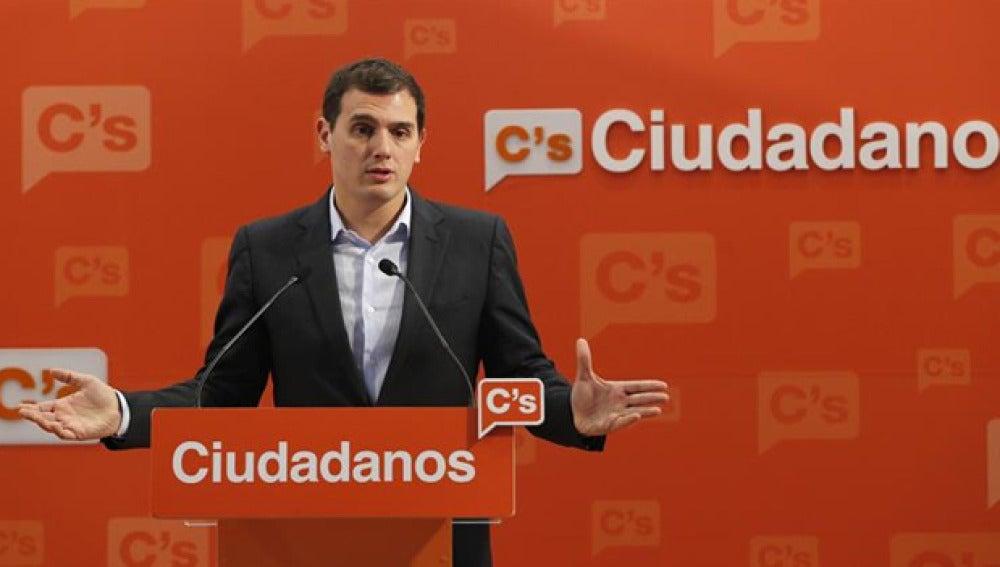 Albert Rivera, líder de Ciudadanos, en rueda de prensa