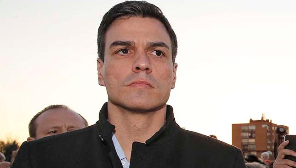 Pedro Sánchez en los acto del 11M
