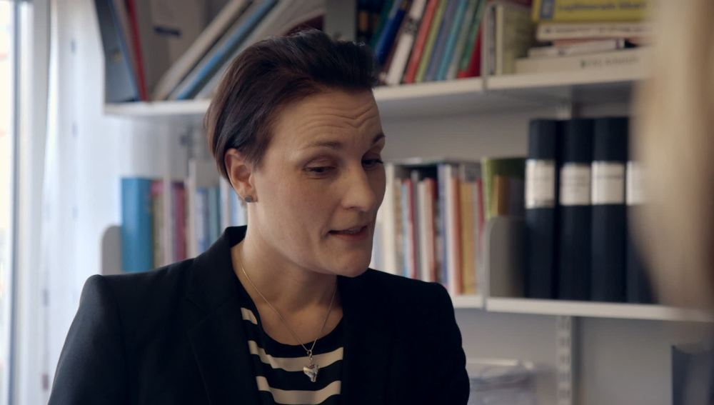 Sigrid Latham, jefa de la unidad sanitaria en el Hospital de Göteborg