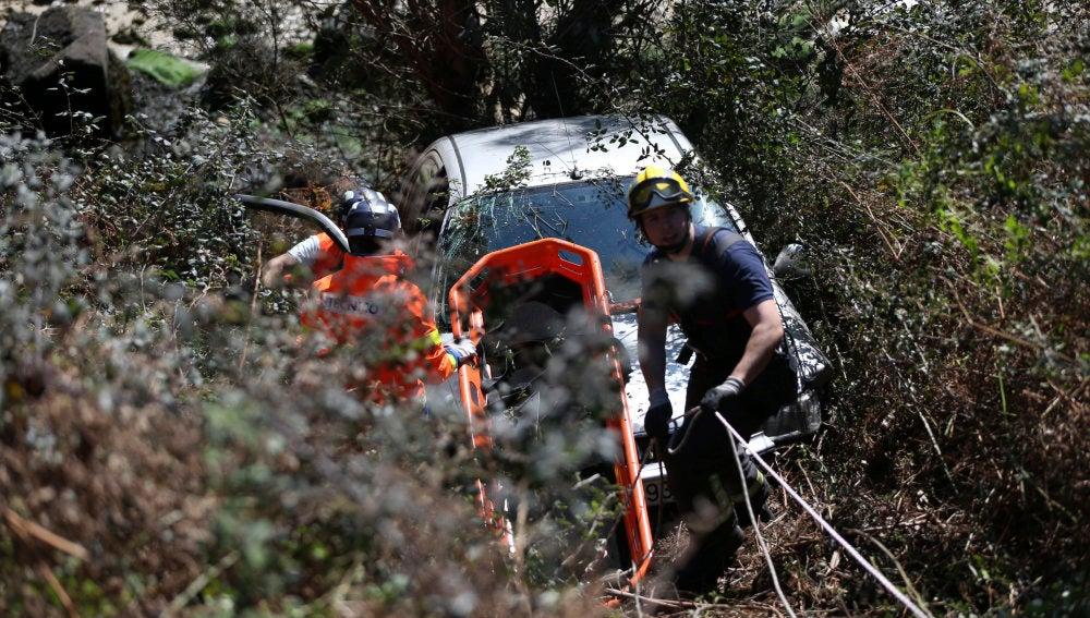 Accidente ocurrido en un barranco durante el domingo