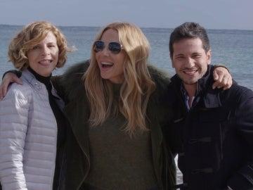 Sole Giménez, Marta Sánchez y David deMaría