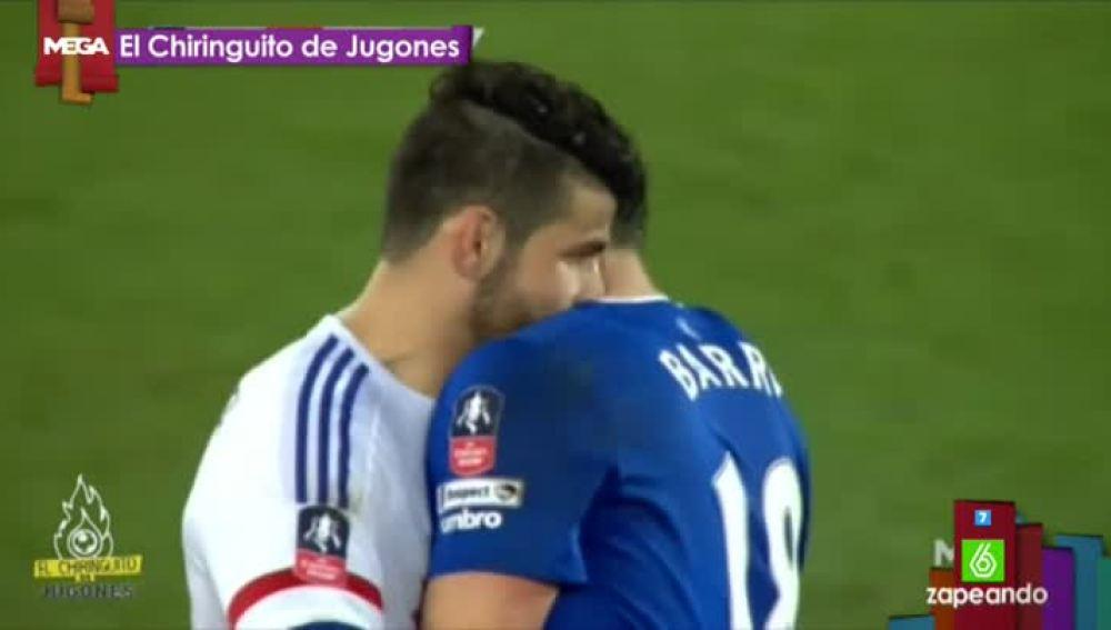 """El """"chupetón"""" de Diego Costa a Gareth Barry"""