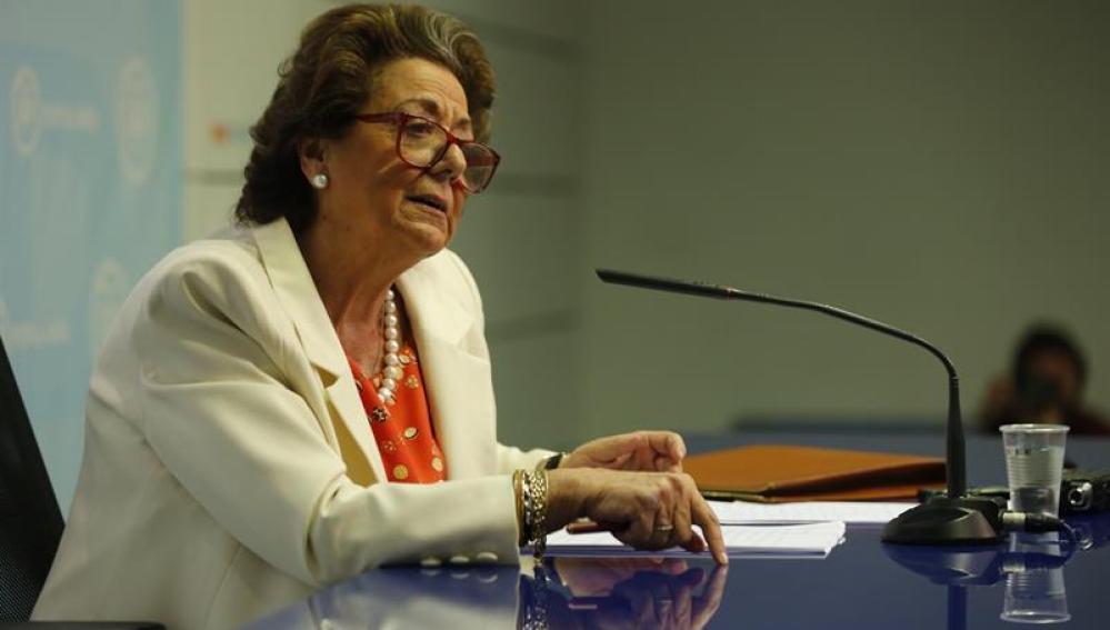 La exalcaldesa de Valencia y senadora, Rita Barberá.