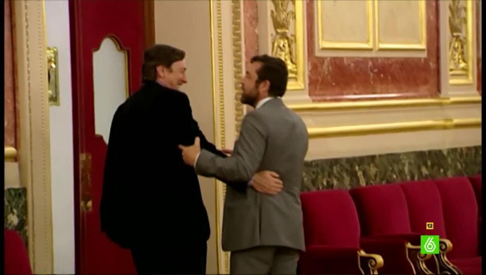Rafael Hernándo y Miguel Guriérrez en el Congreso
