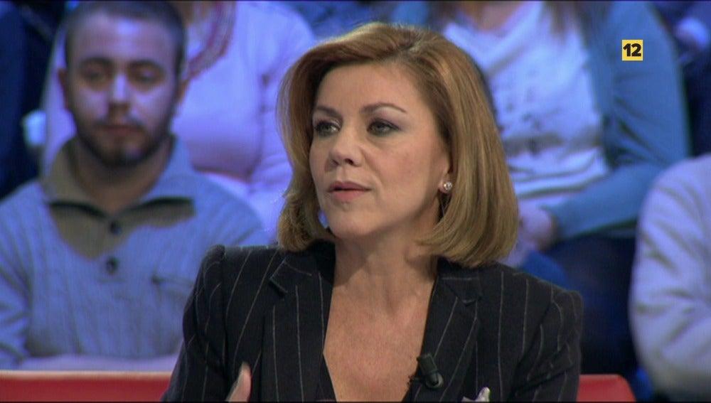 María Dolores de Cospedal visita lasexta noche