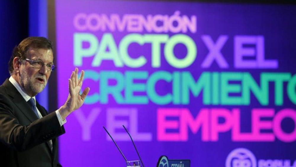 Rajoy habla en una convención del Partido Popular