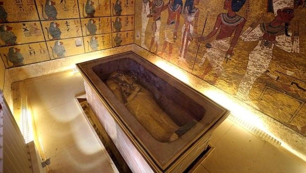 Imagen de la tumba de Tutankamón
