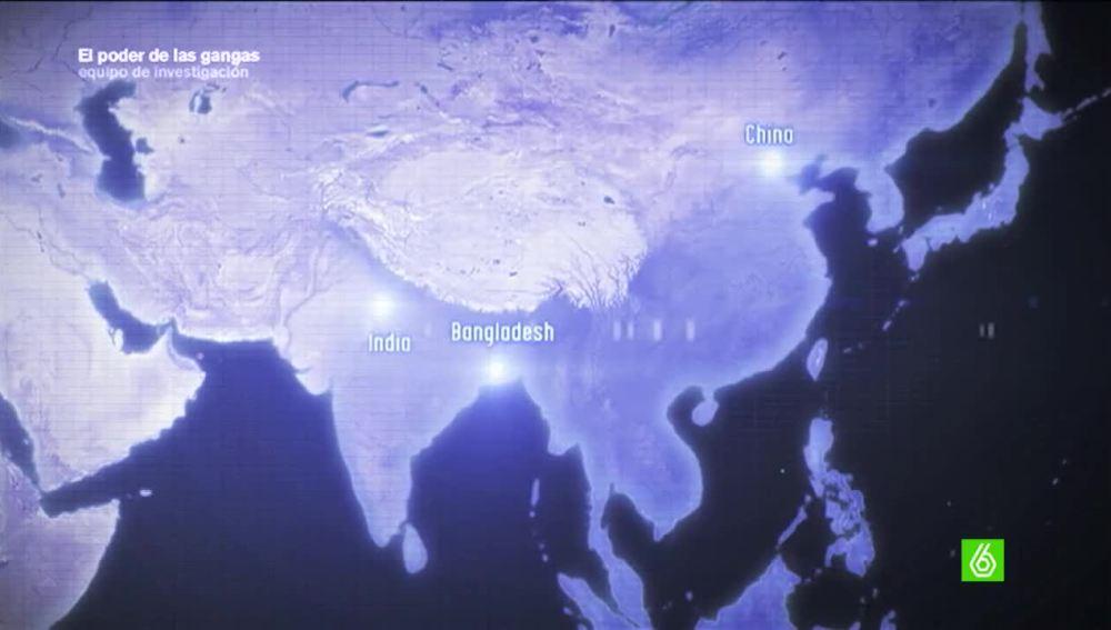 Principales países de la industria textil