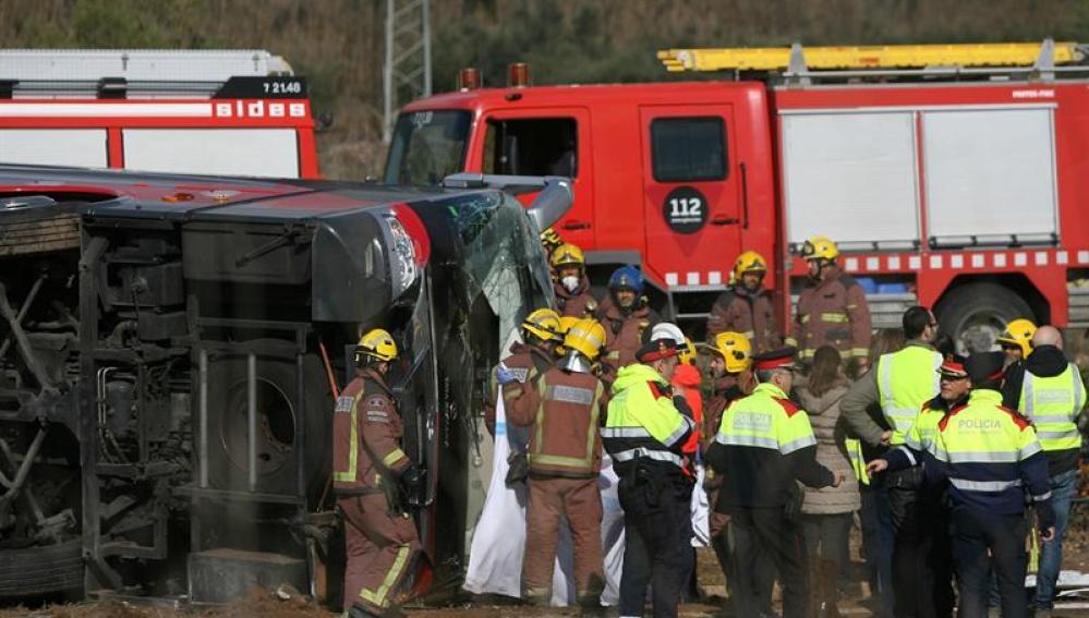El accidente de autobús en Freginals, de los más graves de los últimos años