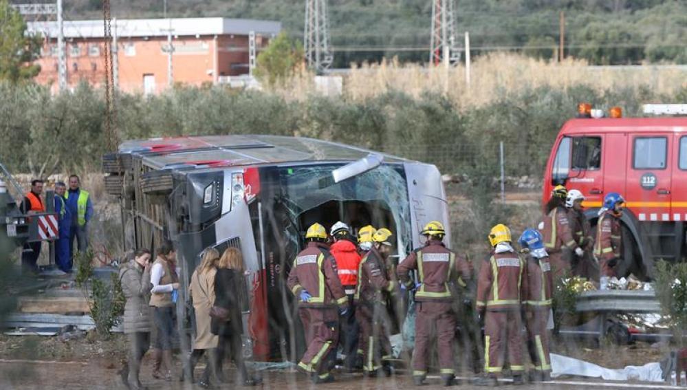 El autocar siniestrado transportaba estudiantes de Erasmus de diversas nacionalidades