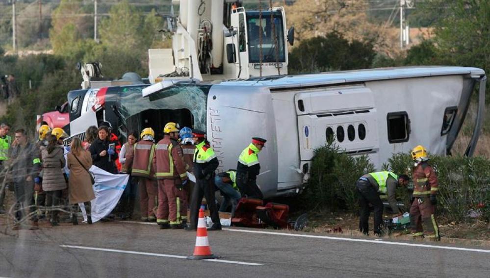 Accidente de bus en Freginals