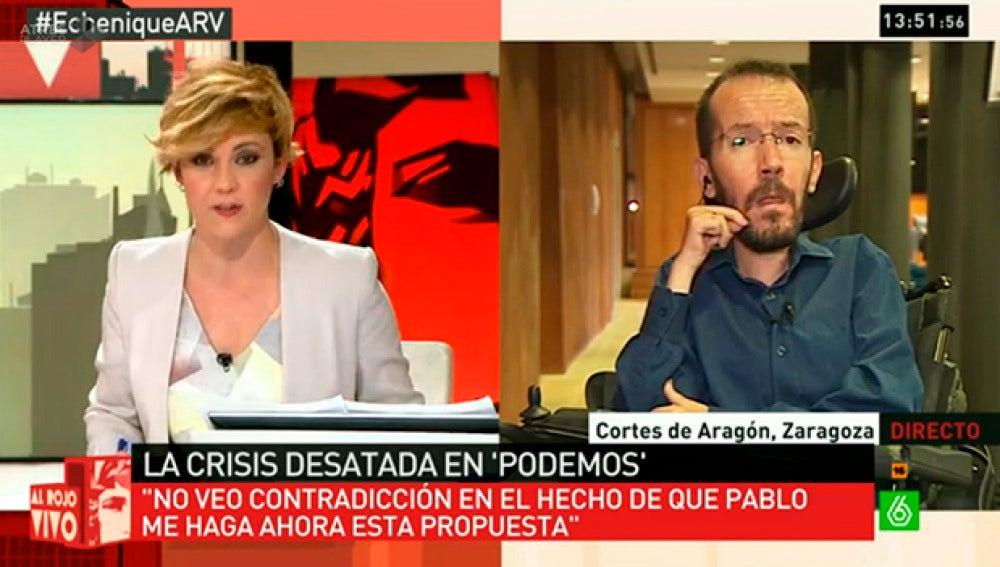 Echenique responde a Cristina Pardo en ARV