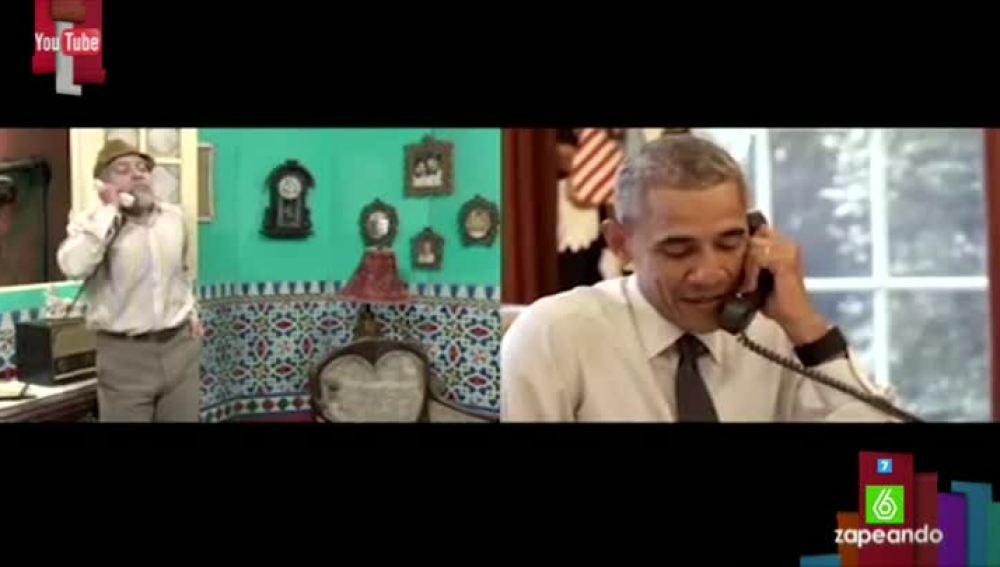 El sketch entre el presidente de EEUU y el humorista cubano Pánfilo