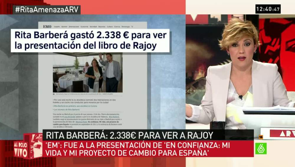Barberá gastó 2.338 euros para ver a Rajoy