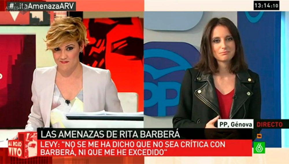 Andrea Levy responde a Cristina Pardo en ARV