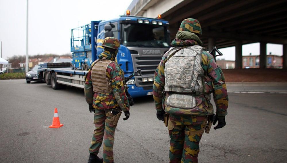 Soldados en Bruselas