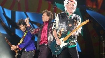 Los Rolling Stones durante su concierto en Cuba
