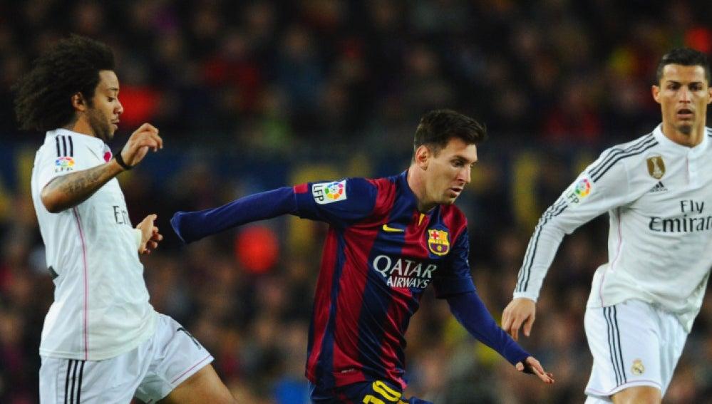 Messi, Marcelo y Cristiano durante un encuentro