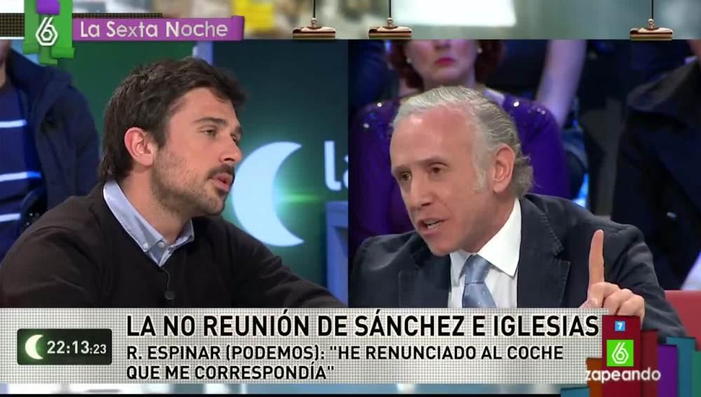Ramón Espinar y Eduardo Inda