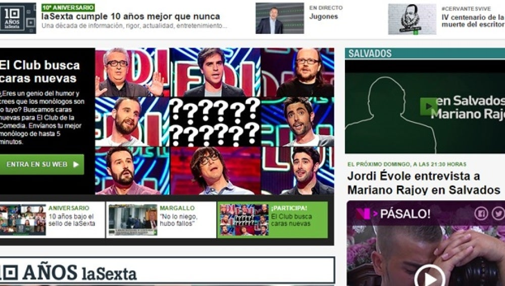 Web de laSexta