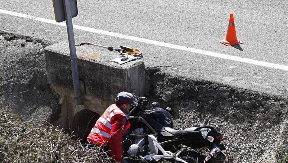 Estado de una moto tras un accidente