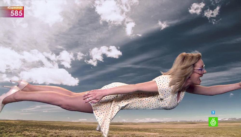 Anna Simon vuela en Zapeando