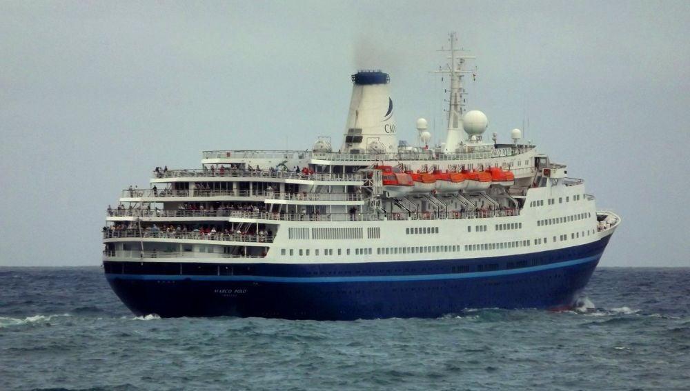 El crucero Marco Polo, donde debía viajar Susan Brown