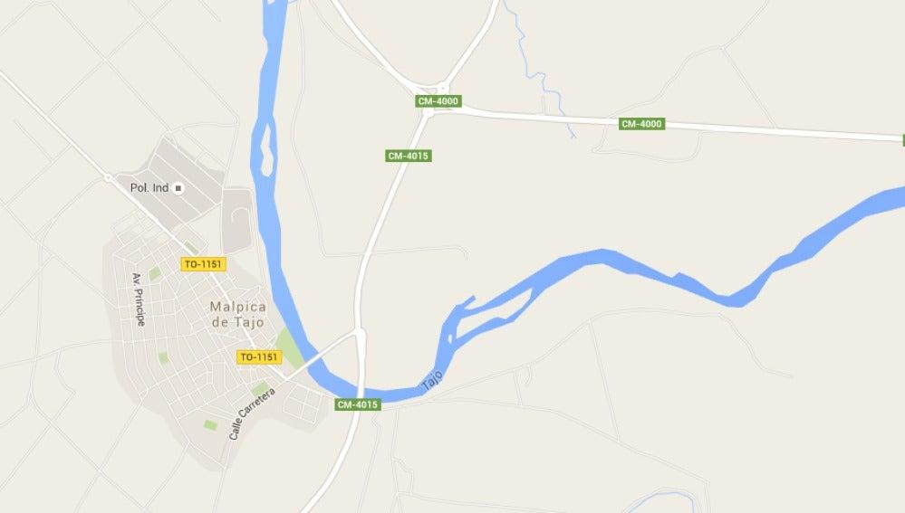 Mapa de Malpica de Tajo, Toledo