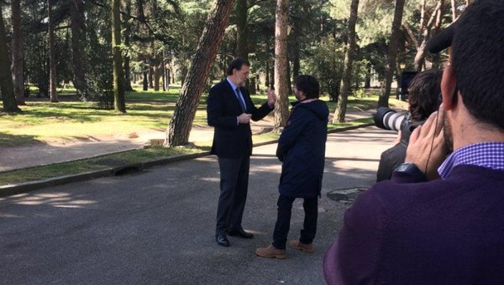 Mariano Rajoy con Jordi Évole en Moncloa