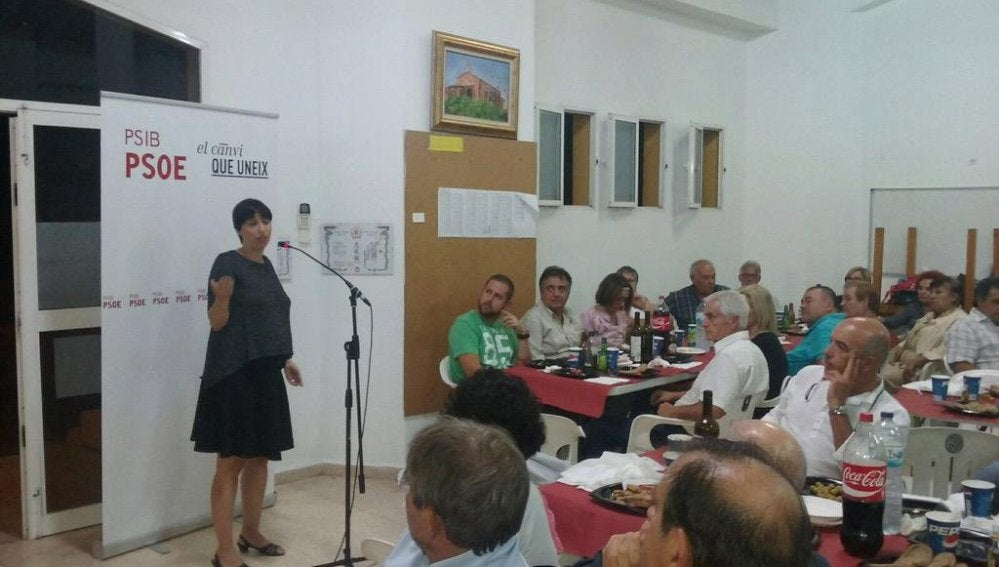 La diputada Silvia Cano, durante un acto de partido