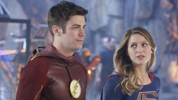 Grant Gustin y Melissa Benoist en 'Supergirl'