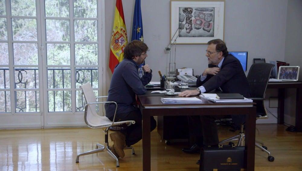 Rajoy, con Jordi Évole