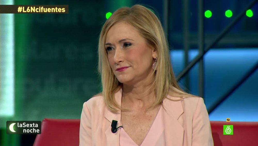 """Cristina Cifuentes: """"Si Ignacio Gónzález es un hombre honrado o no lo dirán los tribunales"""""""