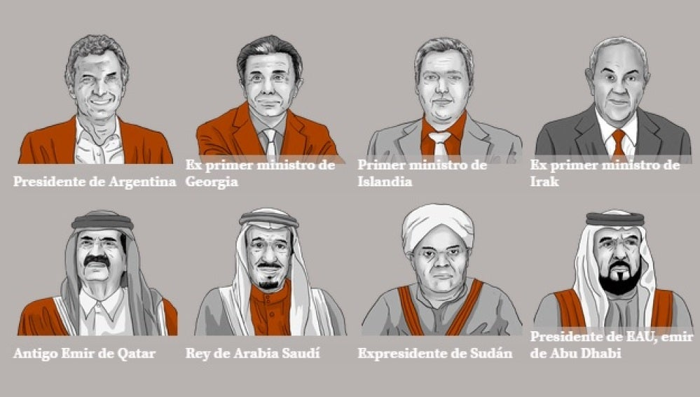 Algunas de las caras de los papeles de Panamá