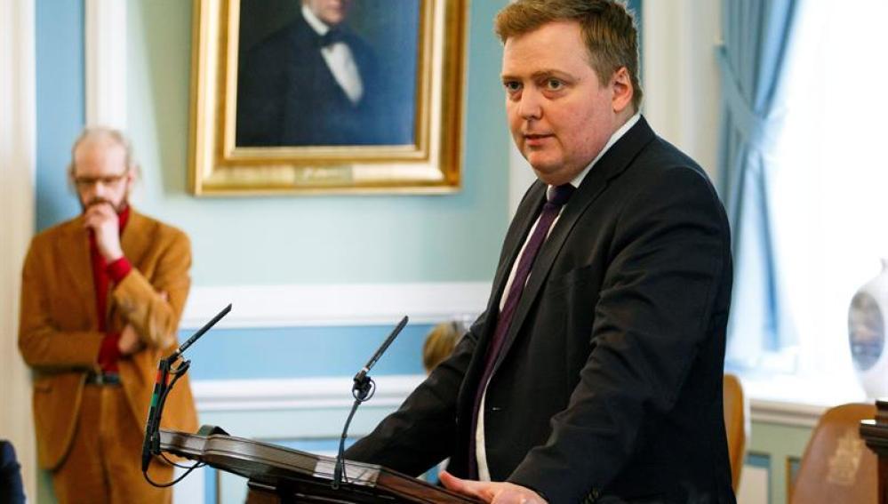 Primer ministro islandés, Sigmundur Gunnlaugsson