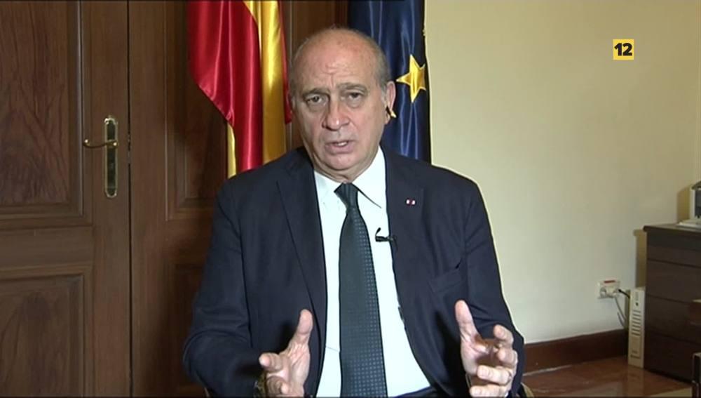 El ministro del Interior en funciones Jorge Fernández Díaz