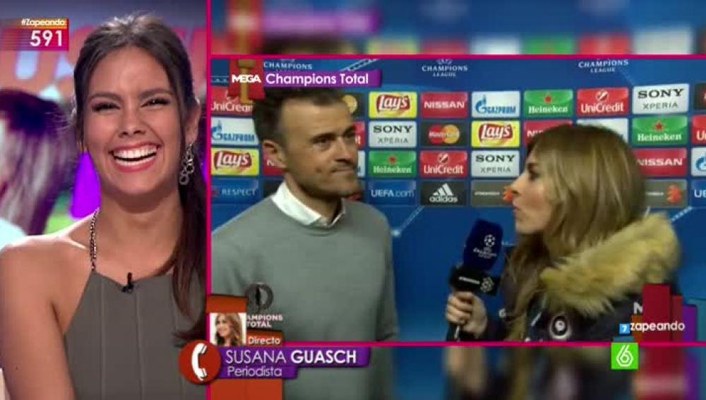 La periodista deportiva Susana Guasch entra en directo en Zapeando